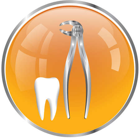 dental forceps with tooth