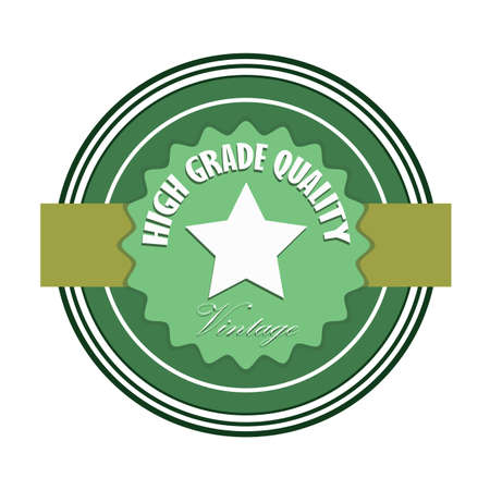 high: high grade quality badge