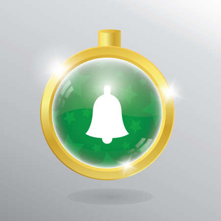 christmas bauble: christmas bell in a christmas bauble Illustration