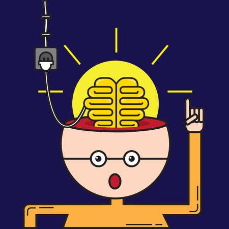 charging: man charging his brain