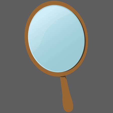 face make up: makeup mirror Illustration