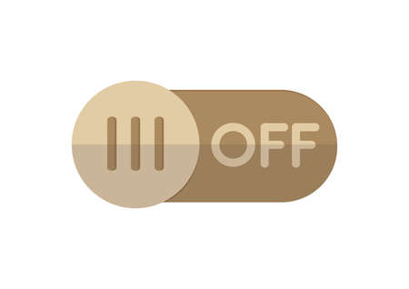 on off button: off button
