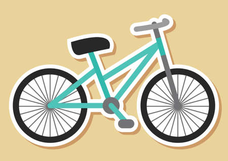 two wheeler: bicycle Illustration