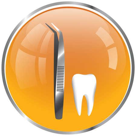 dentist tweezers with tooth