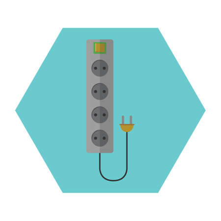 extension: extension cord Illustration