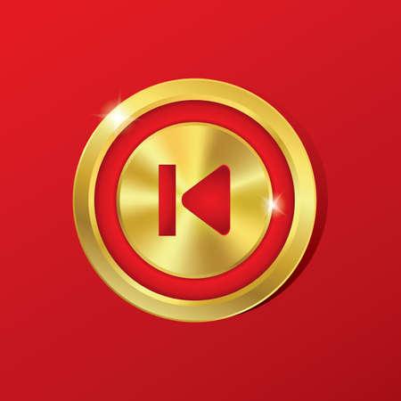 botón anterior Ilustración de vector