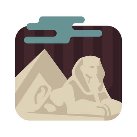sphinx: Esfinge y pirámides en Giza