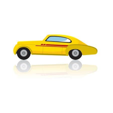 four wheeler: car Illustration