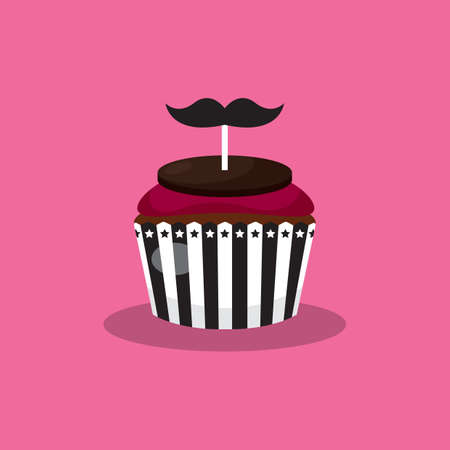 toppings: cupcake with mustache