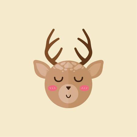 eyes closed: reindeer eyes closed Illustration