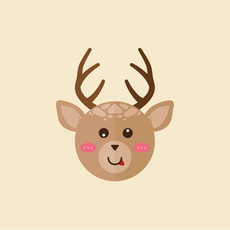 licking: reindeer licking its mouth