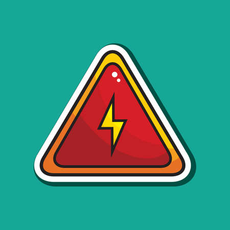 voltage sign: high voltage sign Illustration