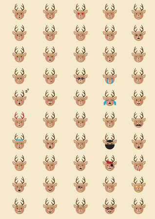 snob: collection of reindeer emoticons