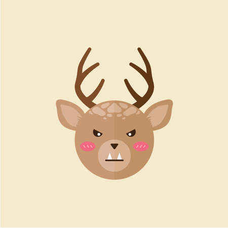 fangs: reindeer with fangs Illustration