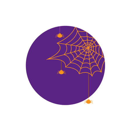 spiders: spiders with spiderweb Illustration