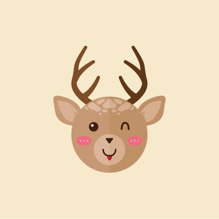 animal tongue: reindeer with tongue sticking out of mouth
