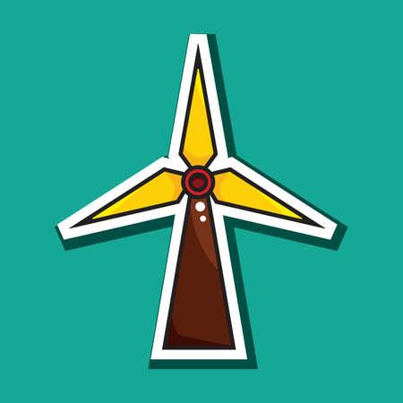 風力タービン  イラスト・ベクター素材