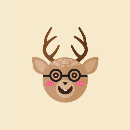 spectacle: reindeer wearing spectacle Illustration
