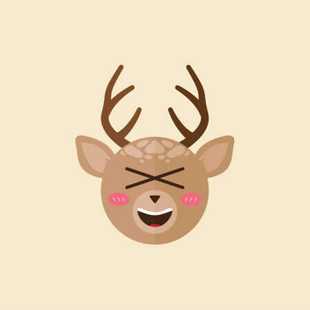 crossed out: reindeer with crossed out eyes and open mouth