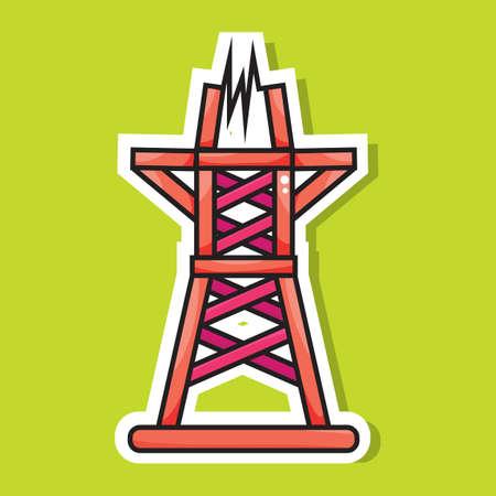 pylon: electric transmission tower