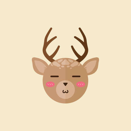pout: reindeer with pouted mouth Illustration