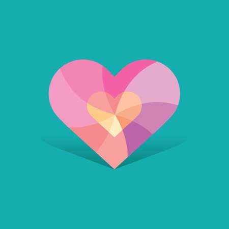 twirls: decorative heart design