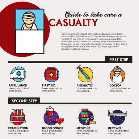 take care: guide to take care casualty Illustration