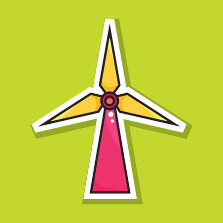 wind turbine Ilustrace