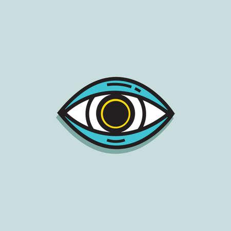 ophthalmology: eye Illustration