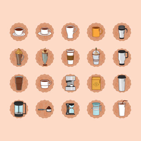 thermo: coffee icon set