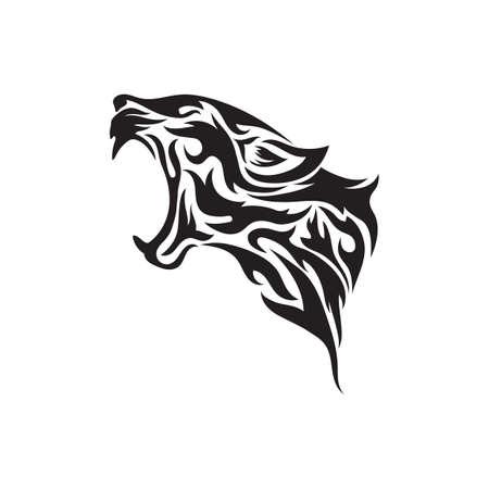 leopardo tatuaje tribal Ilustración de vector