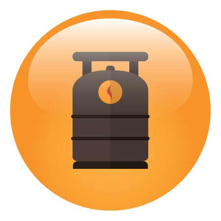 cylinder: gas cylinder Illustration