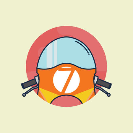 visor: bike visor Illustration