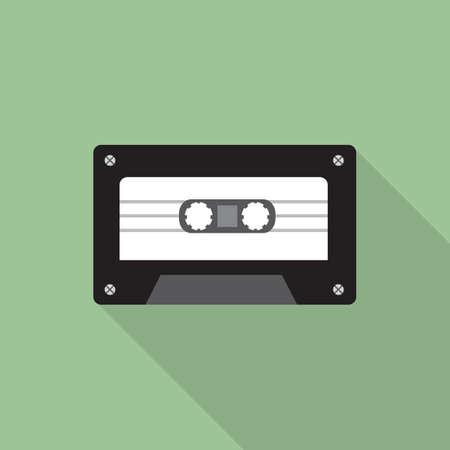 cassette tape: cassette tape Illustration