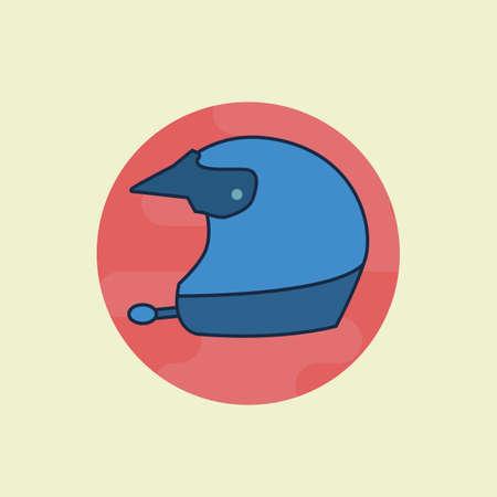 head wear: helmet Illustration
