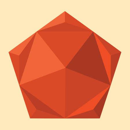 pentagon: geometrical pentagon