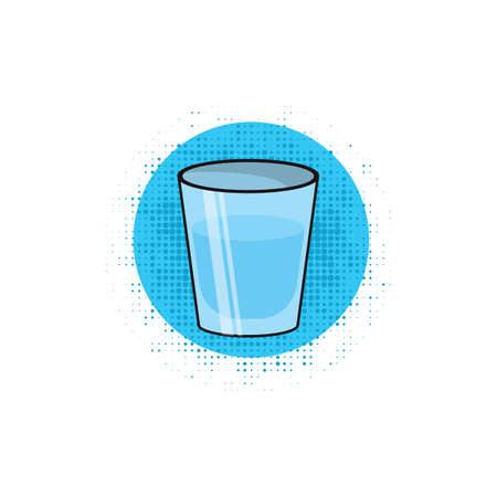 glass water: glass of water Illustration