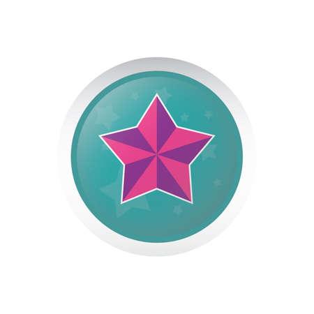 x mas parties: star button Illustration