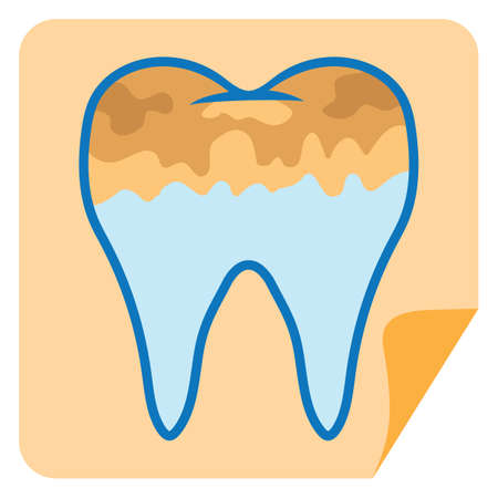 plaque: tooth with plaque