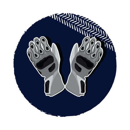 hand wear: racer gloves Illustration