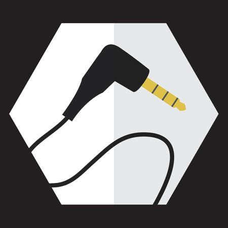 earphone: earphone jack Illustration