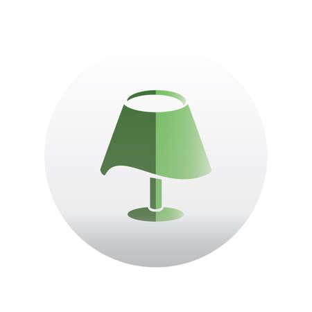 lamp shade: bed lamp Illustration