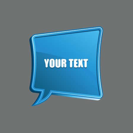 template: speech bubble template design Illustration
