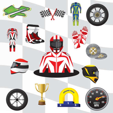 motor race: motor race collection Illustration