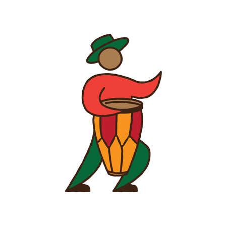 bongo: man playing bongo