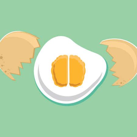 broken eggs: egg brain
