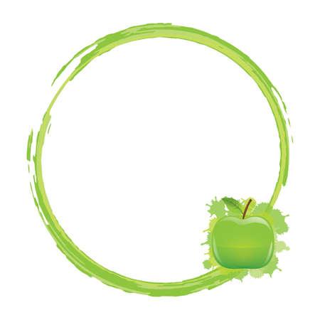 frame met groene appel