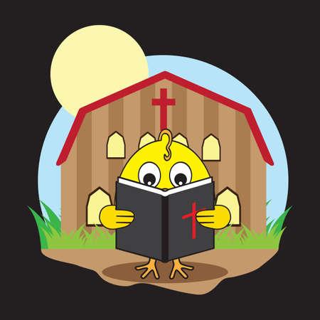 chapel: chick reading bible