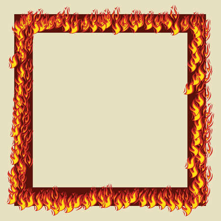 empty frame: frame with flames