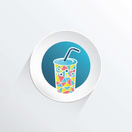 straw: coke glass with straw